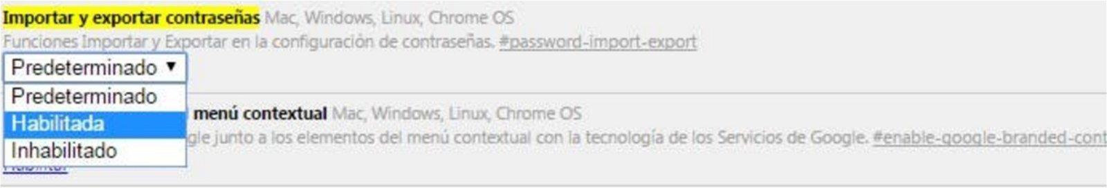 Exportar pwd chrome