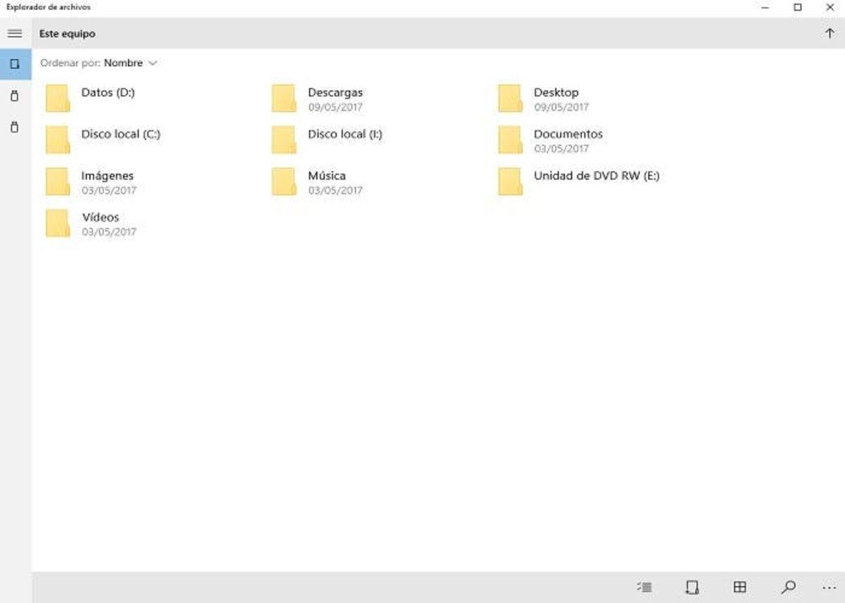Explorador archivos Creators Update 700x500