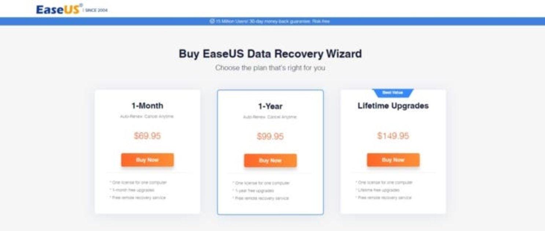 Eraseus recovery precio