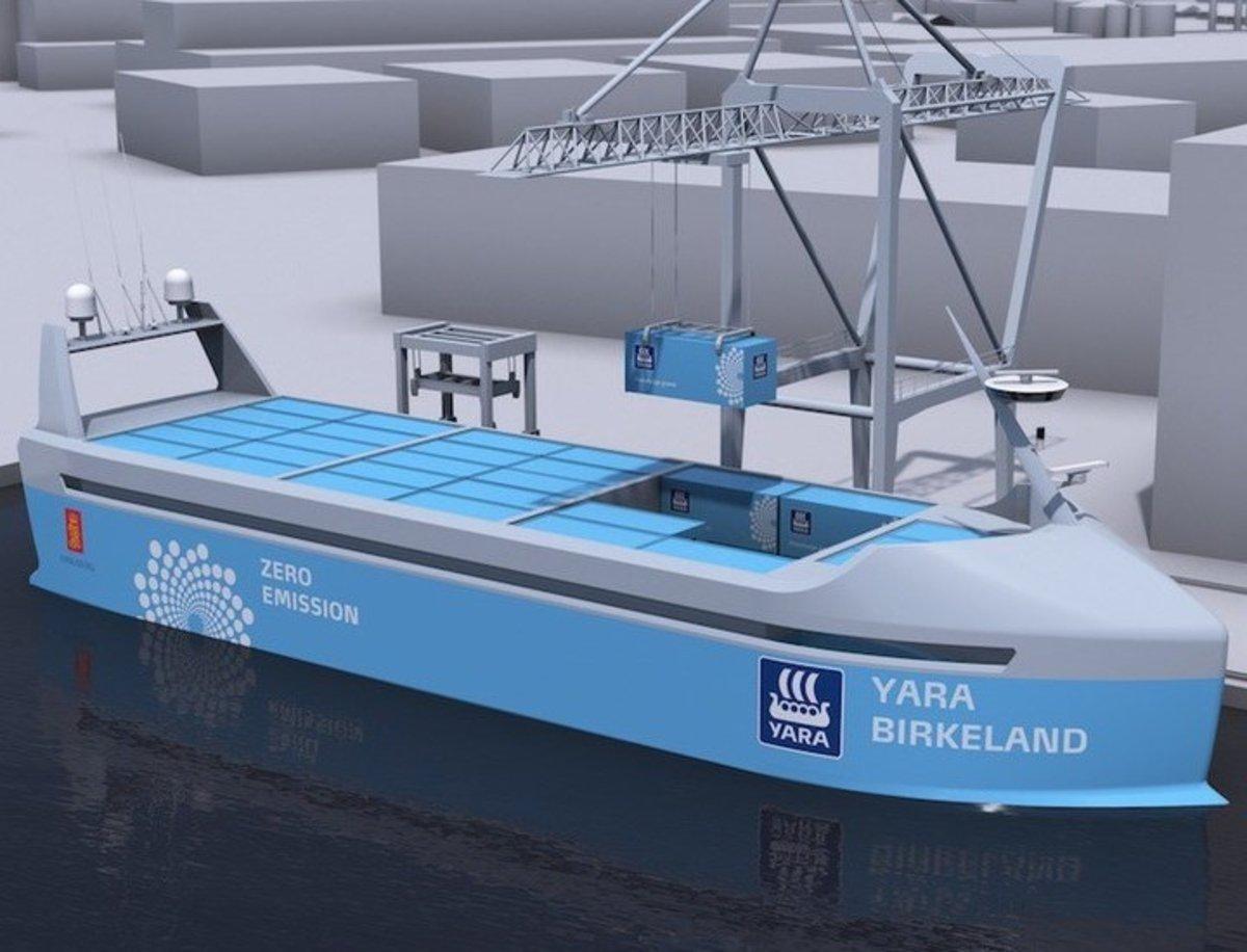 El Yara Birkeland es el buque que surcará los mares sin contaminar y sin personal