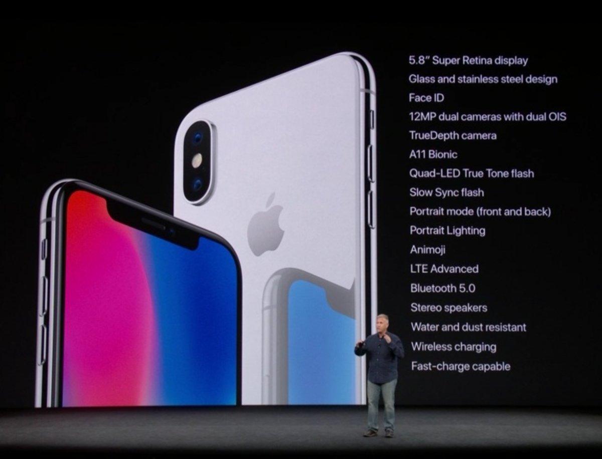 Nuevos iPhone X, iPhone 8 y iPhone 8 Plus: características y precios de lo último de Apple