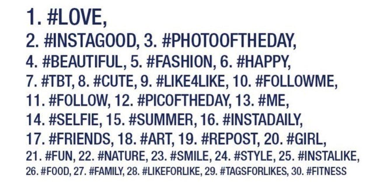 Los hashtags más populares de Instagram, y cómo debes utilizarlos en cada caso