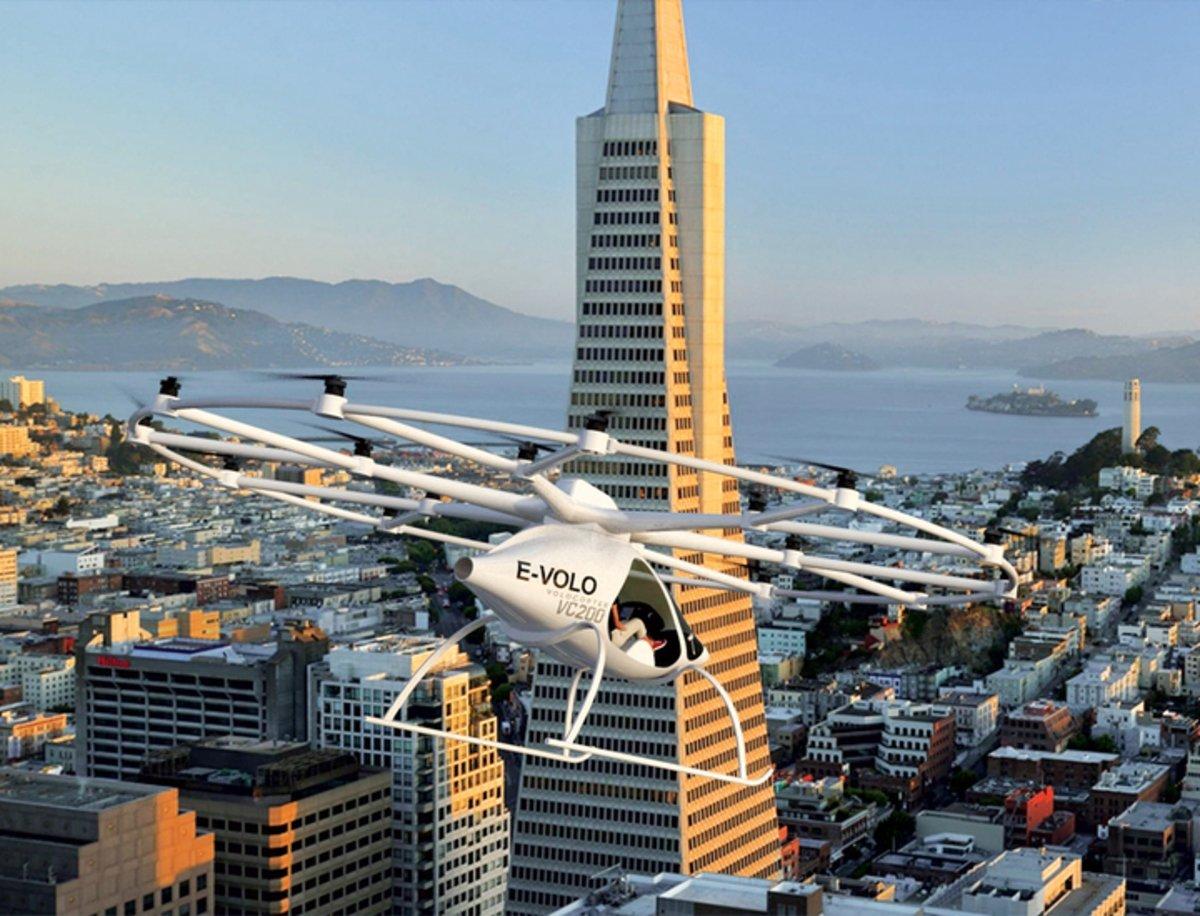 Volocopter, así será el transporte del futuro en la ciudad