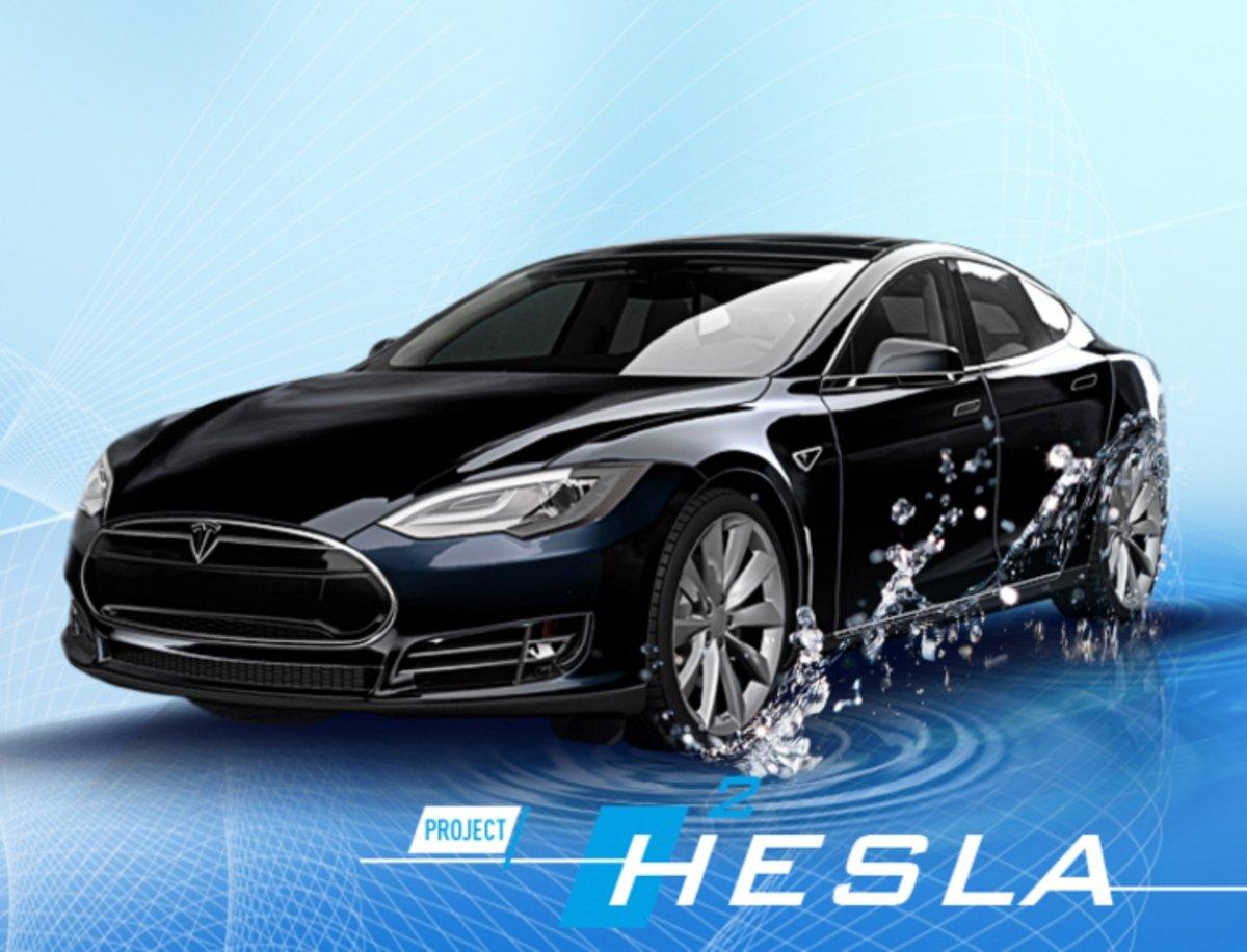 Hesla, así es un Tesla Model S que funciona con pila de combustible de hidrógeno