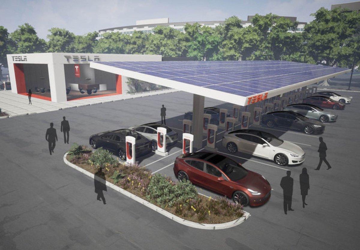 Tesla quiere llevar al siguiente nivel las estaciones Supercharger