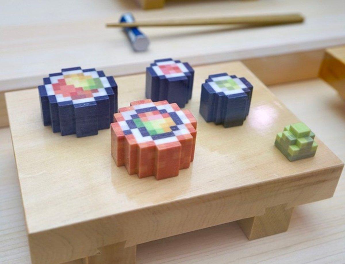 El sushi normal te parecerá aburrido después de ver esta versión en 8 bits