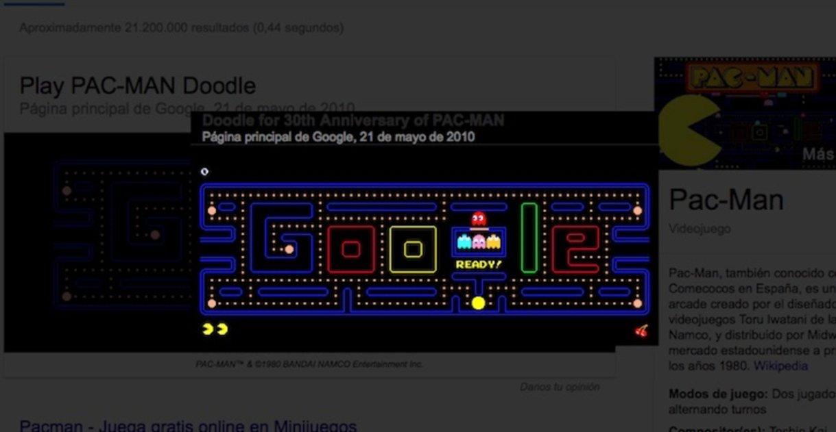 16 increíbles juegos y trucos escondidos en la barra de búsqueda de Google