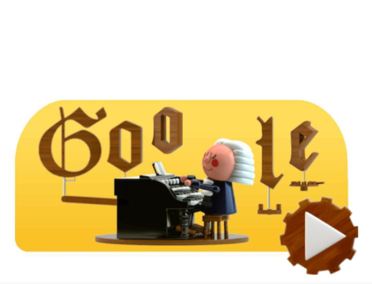 Los doodle se apunta a la IA en el aniversario del nacimiento de Bach