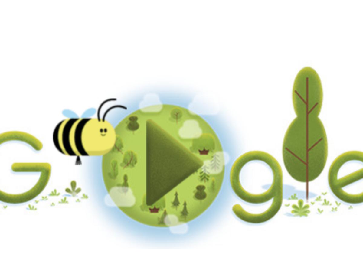 Las abejas protagonizan el doodle del Día de la Tierra