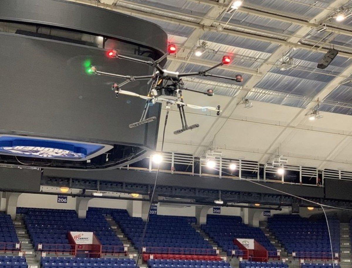 Uso de drones para desinfectar estadios en tiempos de Covid-19