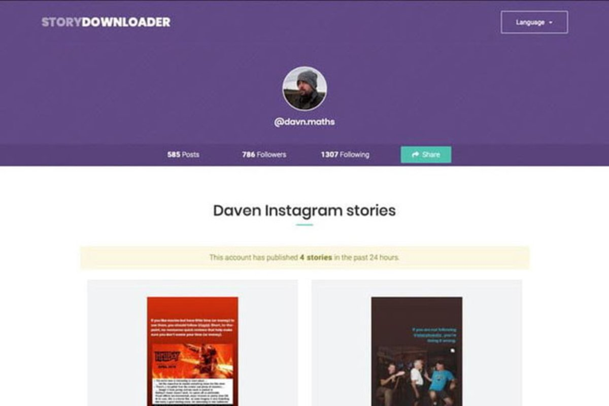 Cómo descargar las Instagram Stories de tus amigos