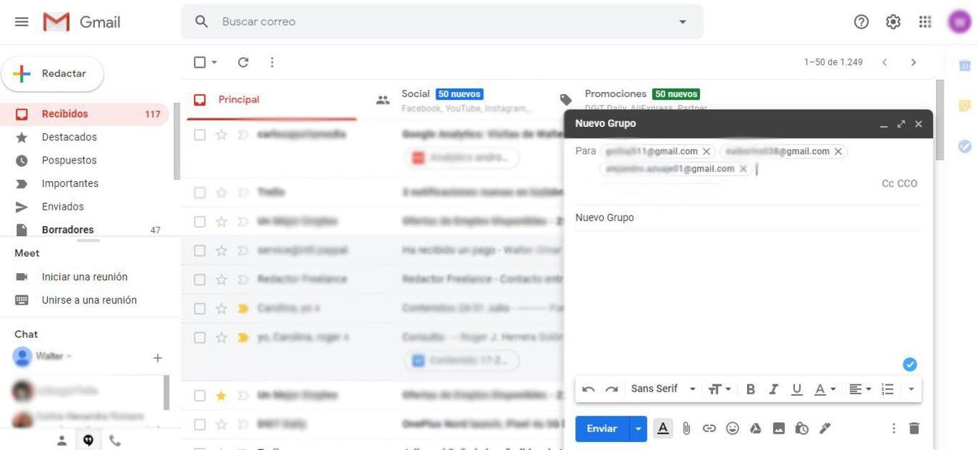 Cómo crear un grupo de contactos de Gmail en pocos pasos