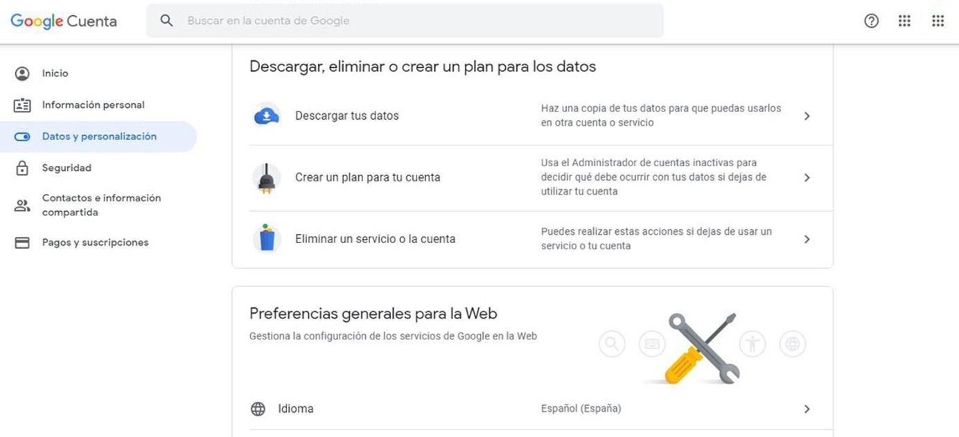 Cómo eliminar una cuenta de Gmail sin perder los datos
