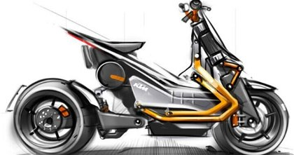KTM podría fusionar los conceptos scooter y motocicleta gracias a la mecánica eléctrica