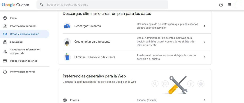 Cómo borrar una cuenta de Google o Gmail definitivamente