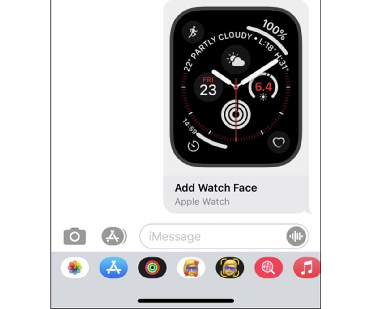pasos para compartir las esferas de tu Apple Watch