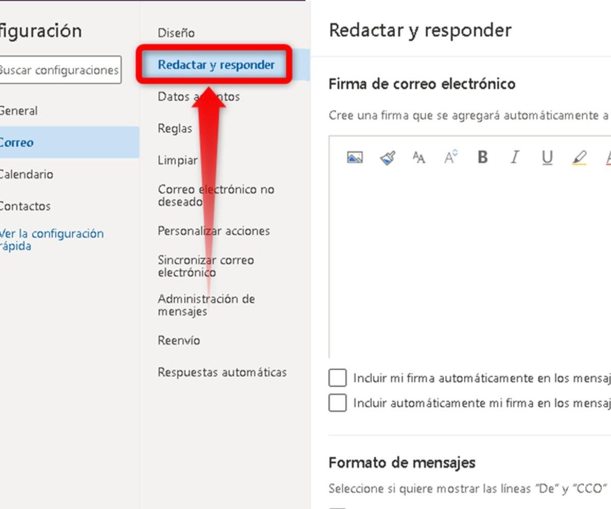 Cómo agregar una firma a tu correo Outlook-2