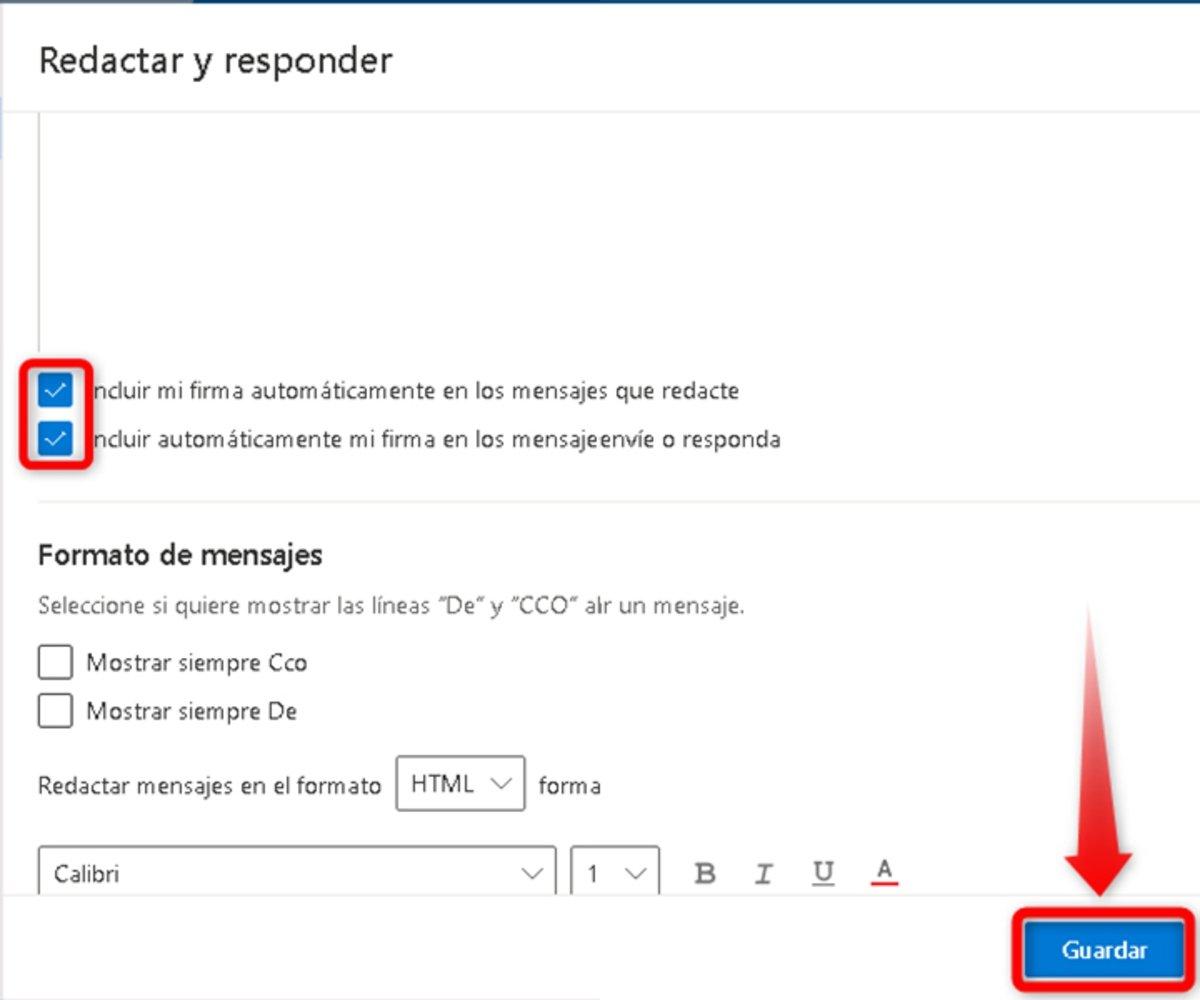 Cómo agregar una firma a tu correo Outlook-4