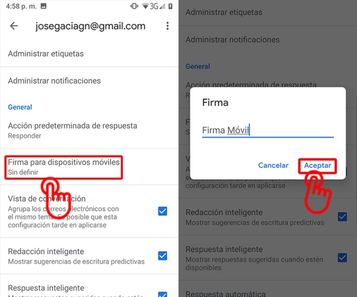 Como agregar una firma a tu correo Gmail en dispositivos-2