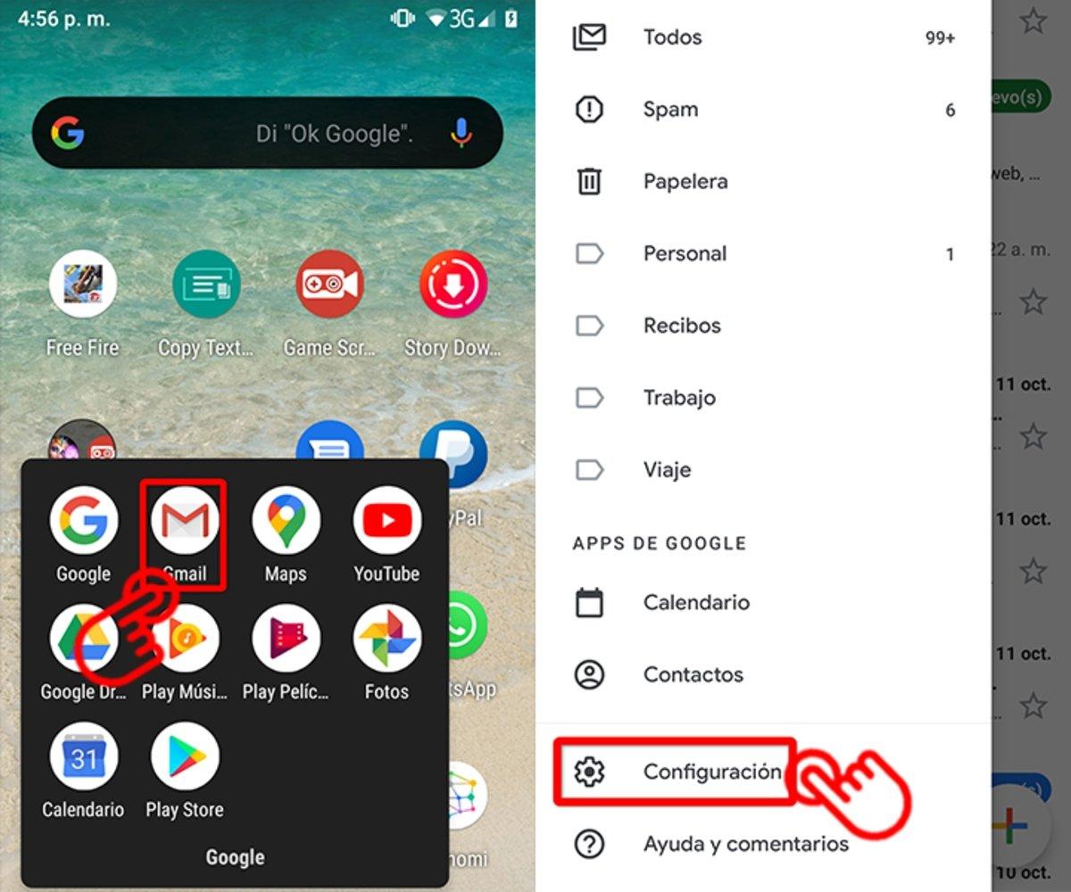 Como agregar una firma a tu correo Gmail en dispositivos