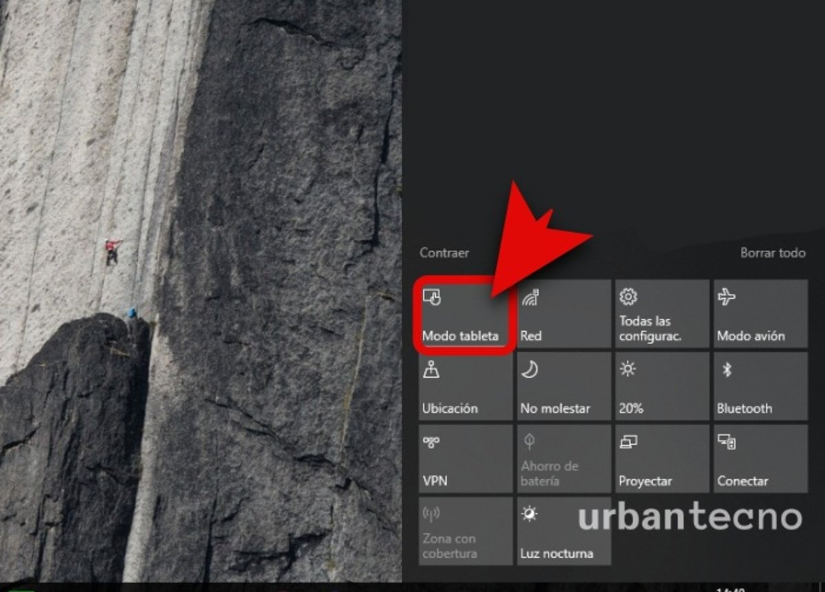 Cóm evitar que Windows 10 se ponga en modo tablet automáticamente