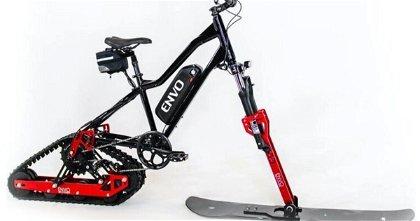 Cómo convertir una bicicleta eléctrica en una moto de nieve con un solo kit