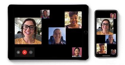 Cómo hacer videollamadas grupales de FaceTime  en iPhone o iPad