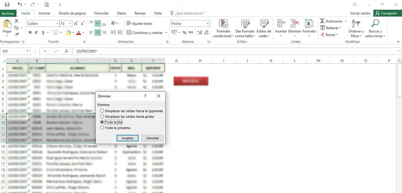 Cómo eliminar varias filas a la vez en una hoja de Excel