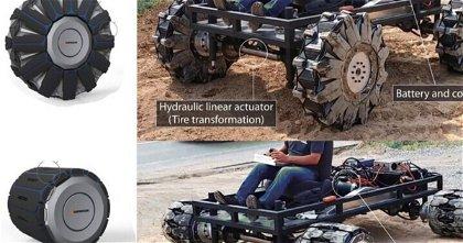 Las inspiradoras ruedas de Hankook que cambian de tamaño para ser todoterreno