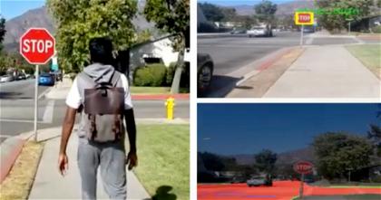 Crean una mochila con inteligencia artificial para guiar a las personas ciegas