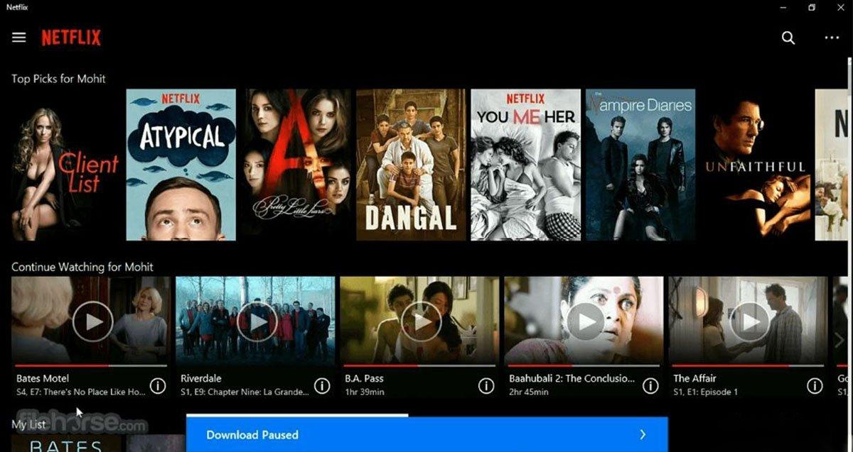 Cómo cambiar ubicación de las descargas de Netflix en Windows 10