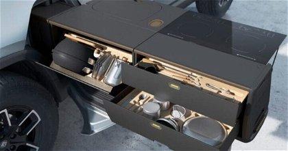 Rivian R1T, así será su cocina portátil que se podrá escoger como opción