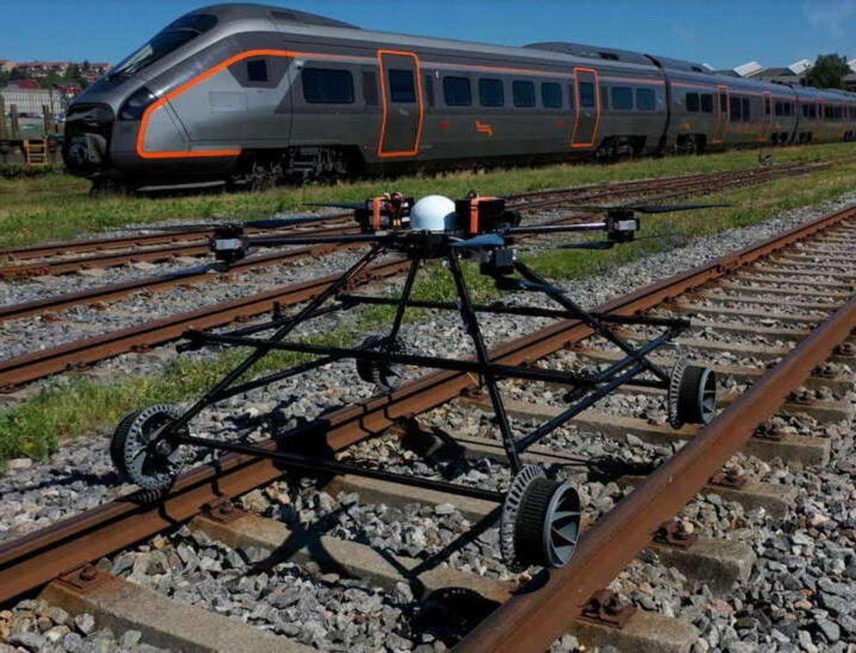 Staaker BG-300, el dron que evitará accidentes en el tráfico ferroviario