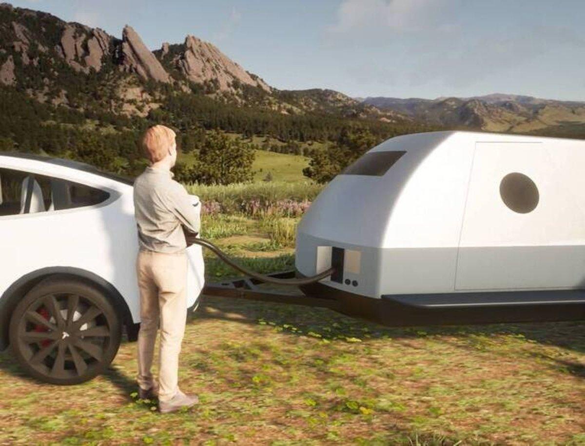 The Boulder, la caravana pensada para poder acampar con un coche eléctrico