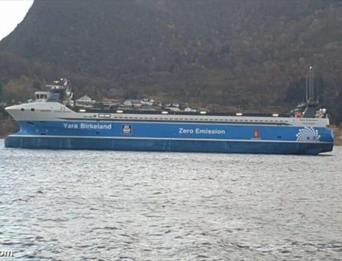 Yara Birkeland, el primer carguero completamente eléctrico y sin necesidad de tripulación