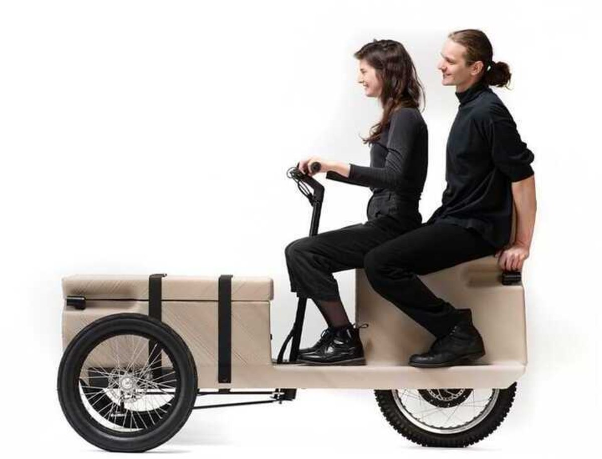 ZUV, un vehículo eléctrico que ha sido creado a base de residuos plásticos